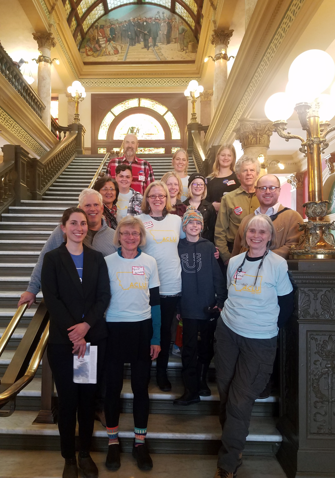Photograph of volunteers at our 2019 lobby day at the Montana Legislature