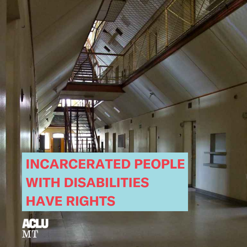 Prison, Incarcerated People with Disabilities Have Rights