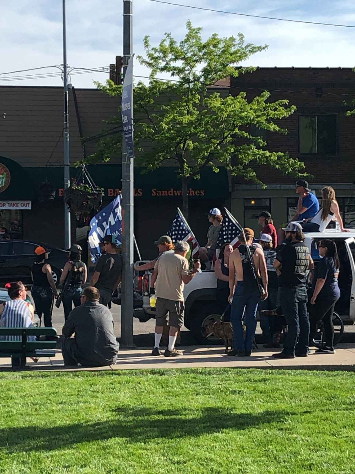 Photo of armed individuals during Black Lives Matter Protest in Missoula 2020