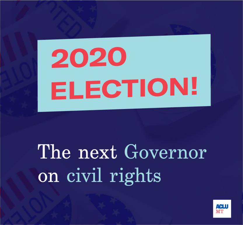 Square Graphic of 2020 Election The Next Governor on civil rights