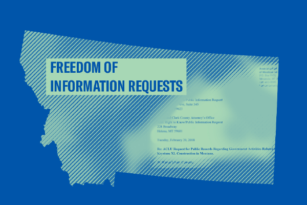 graphic of Freedom of Information Requests and the state of Montana