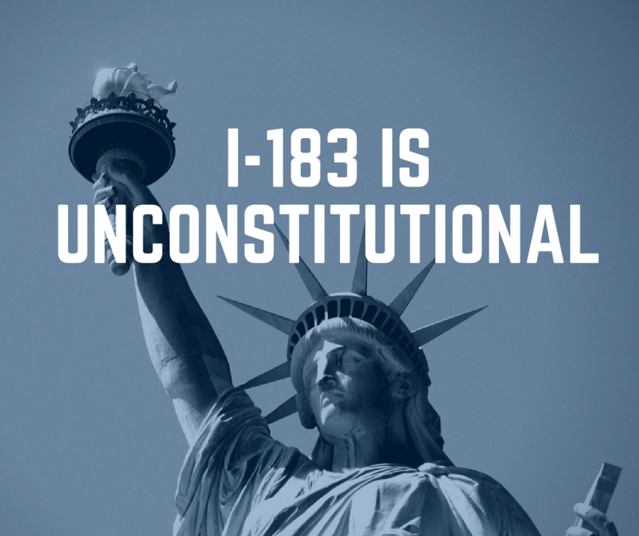 I-183 is unconstitutional