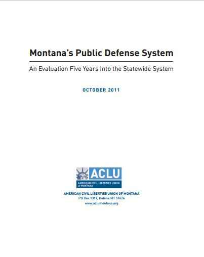 Montana's Public Defense report