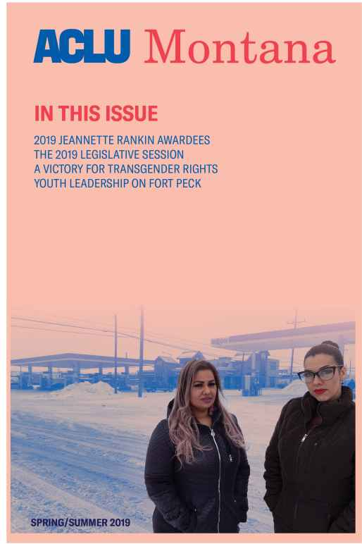 Image of Spring 2019 Newsletter, on the cover is a photo of Ana Suda and Mimi Hernandez