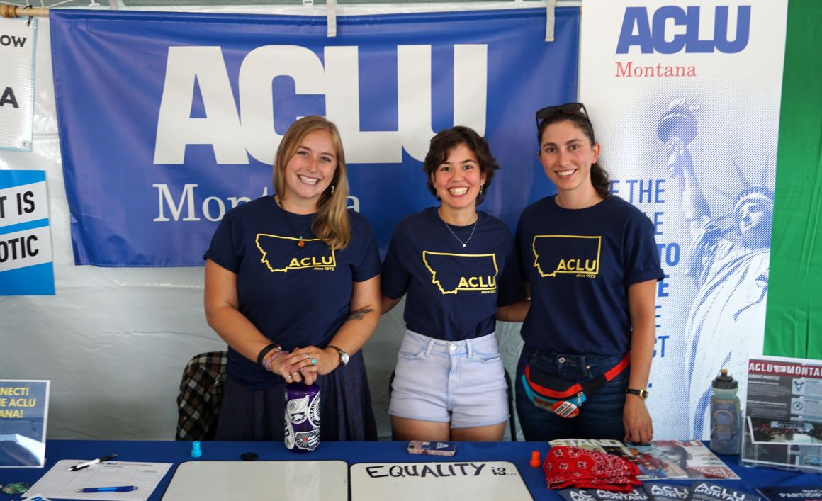 Photograph of volunteers tabling at an event