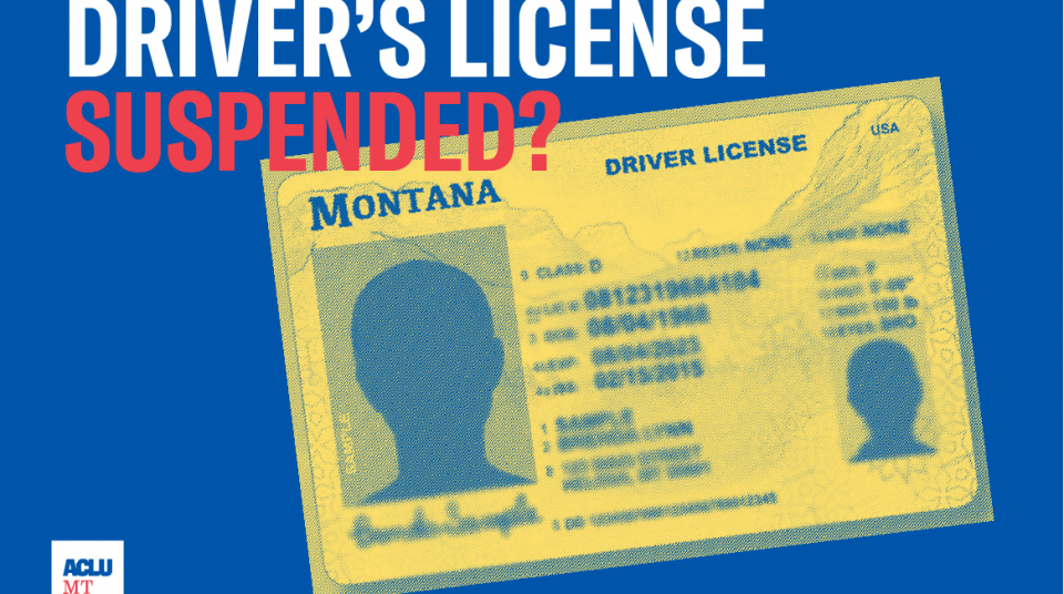 Ending Your Debt-Based Driver's License Suspension   ACLU of