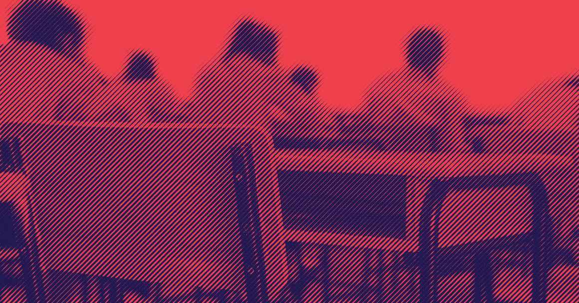 Image of empty desk